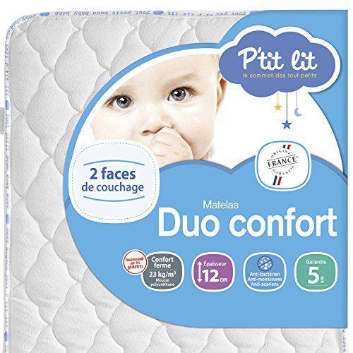 P'tit Lit – Matelas bébé Duo Confort – Epaisseur 12cm, Anti acarien: Le meilleur rapport qualité prix pour un usage quotidien Traitement…