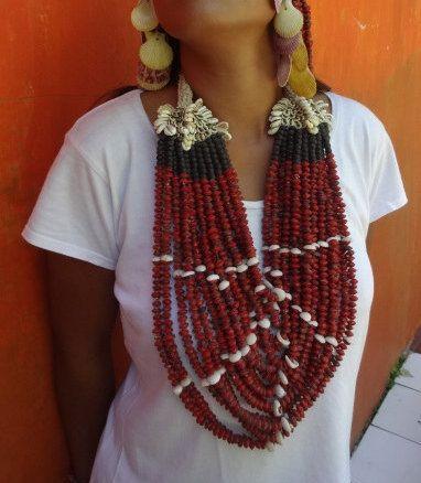 Fabulous feng shui Bohemian Cut Shell Necklace by ubudexotica