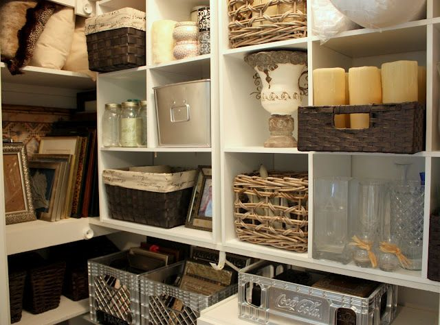 Organizing A Junk Closet With Cube Storage Units Closet