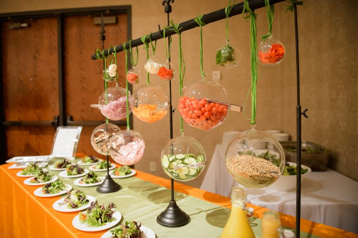 Receptions Food Displays And Prime Time On Pinterest: Such A Creative Way To Set Up A Salad Bar