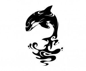 Orca Whale Tattoo. I really like this one