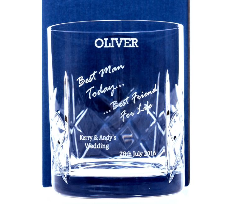 ENGRAVED BEST MAN TODAY CRYSTAL WHISKY GLASS WhiskyWedding GiftsCrystals WeddingsGlassesWedding