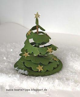 Susi's Basteltipps: Oh Tannenbaum - ein Weihnachtsbaum statt Rose