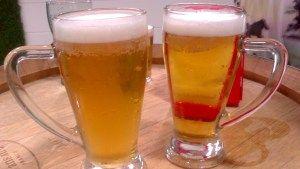 Jarras de cerveza en el Mercado Provenzal