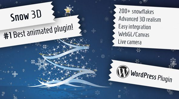 Snow 3D Christmas WordPress Multipurpose Plugin