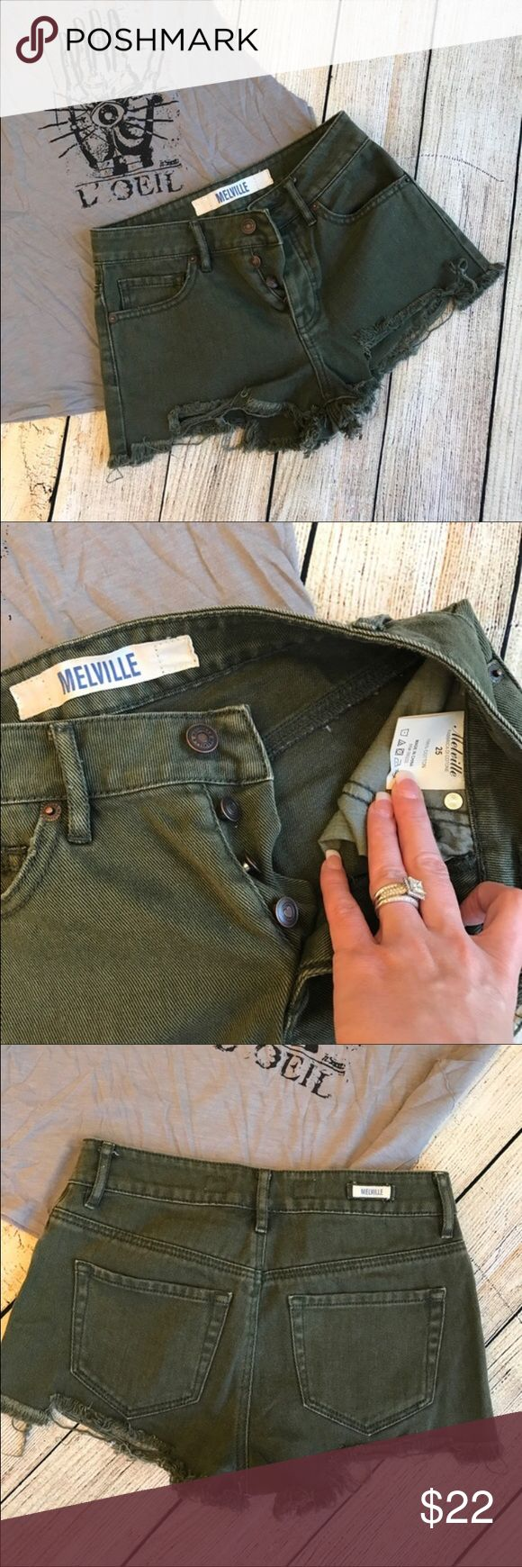 Brandy Melville Olive Green Shorts! Shorts are basically brand new, no flaws and are extremely cute. Comes with Brandy Melville stickers! Brandy Melville Shorts
