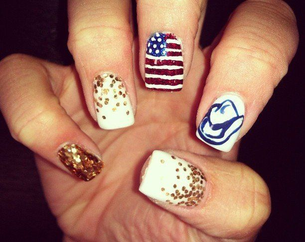 Nail Designs For Rodeo : Nail designs on tongue rings cute nails and my - Nail Designs For Rodeo: Girl Rodeo Nails And. Rodeo Nail Art Floral