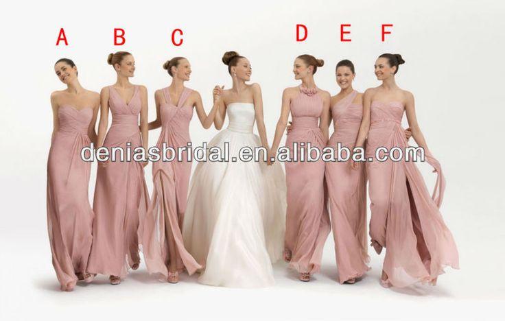 La venta caliente, orden de la mezcla de color rosa baratos asequibles de color coral real de gasa vestido de dama de honor 2013 patrones-XL Falda-Identificación del producto:715924436-spanish.alibaba.com