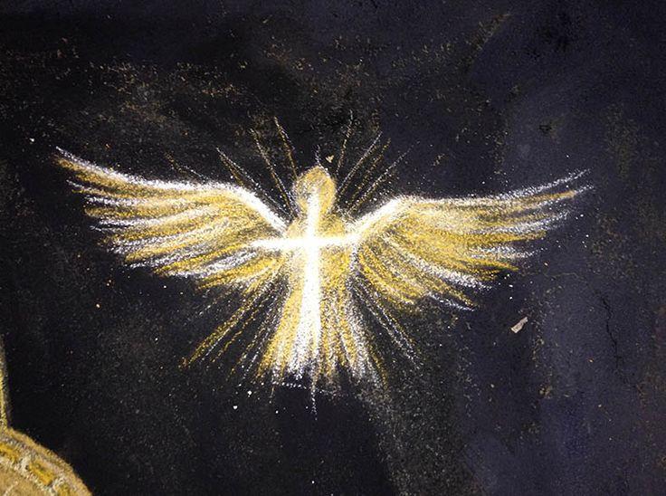 Colomba - particolare Pasquale Scognamiglio - Concorso dei Madonnari a Tauranova