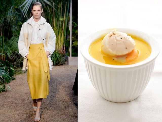 Hermes ss 2014 / Potato and scallops ginger cream