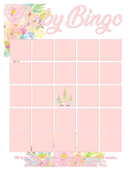 On Sale Unicorn Baby Shower Games 10 Printable Games Plus 2 Etsy