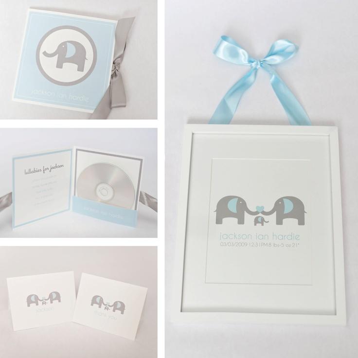 41 best pink elephant baby shower images on pinterest elephant printable elephant gift set for baby negle Images