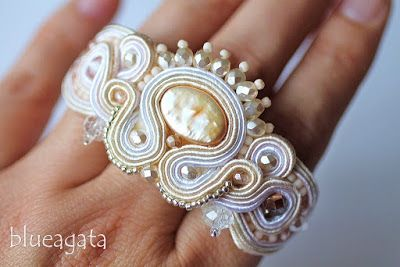 blueagata: Wedding soutache jewellery