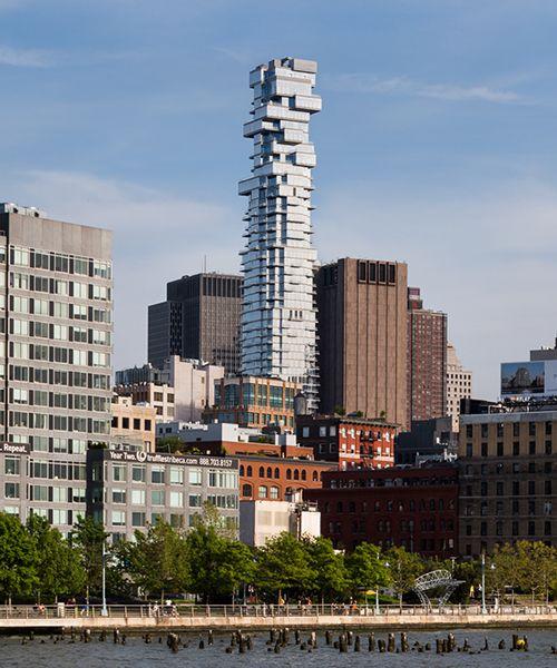step inside herzog & de meuron's 56 leonard 'jenga tower' in new york