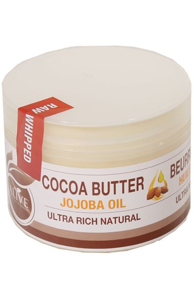 AOneBeauty.com - Be Alive Raw Whipped Natural Cocoa Butter [Jojoba Oil] (8oz) , $14.99 (http://www.aonebeauty.com/be-alive-raw-whipped-natural-cocoa-butter-jojoba-oil-8oz/)