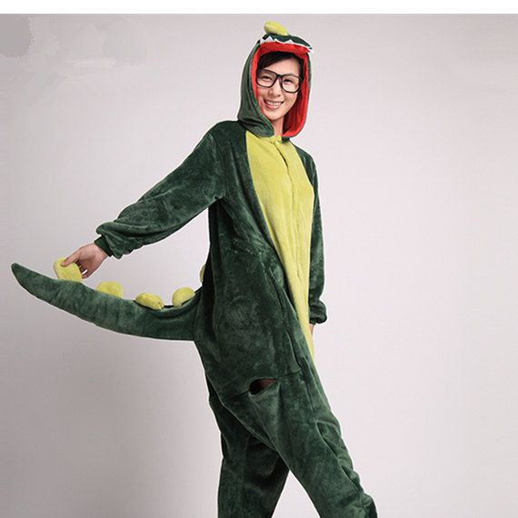 Adult Onesies Kigurumi Dinosaur Pajamas For Women Girls By