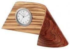 Inova Team Zebrawood Handmade Clock contemporary-desk-and-mantel-clocks