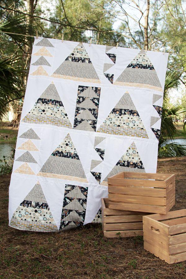 Tepee Adventures Quilt Kit #ArtGalleryFabrics #Sew #Stitch #Thread #Kit #DIY #Design #Craft #HowTo #Makeit #Quilt #Fashion