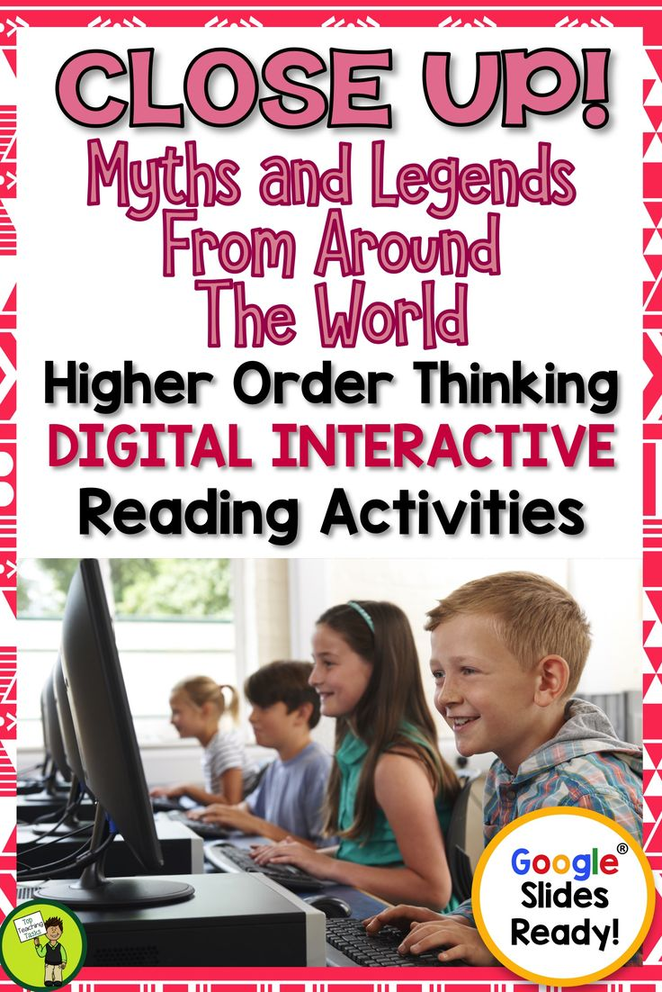 Myths and Legends Digital Close Reading Comprehension Passages with Questions. Go paperless with our Google Slides-ready reading comprehension resource! These myths and legends for kids have differentiated reading passages and questions. Digital reading resources for use in Google Slides on Google Drive. Great for your guided reading program in both a traditional classroom, Google classroom or 1:1. #digital #mythsandlegends #kids