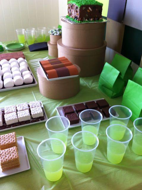 minecraft party ideas | Crafty Ingredients: Minecraft Birthday Party