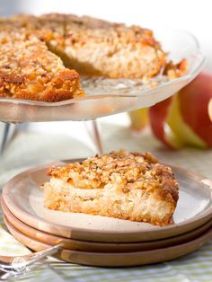 Gestürzter Apfelkuchen mit gerösteten Mandeln & Zimt | Upside down apple cake with roasted almonds | #ichbacksmir