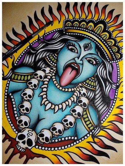 Pin De Fabian Eduardo Pena Ortiz En Flash Tattoo Diosa Kali
