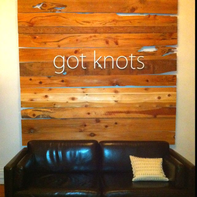 Amazing wooden planks and signage on wall at massage therapist's office