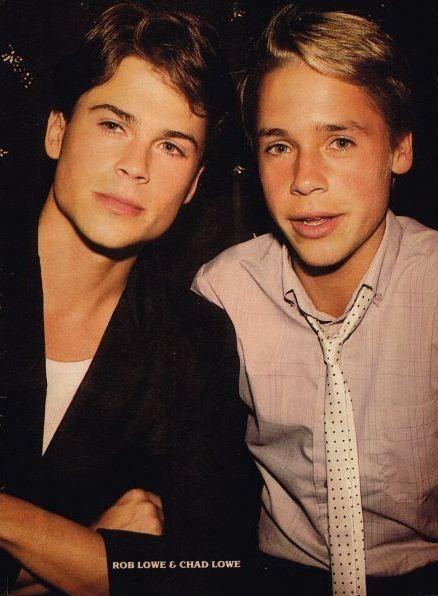 Rob Lowe and Chad Lowe