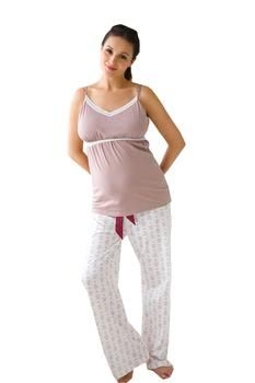 Belabumbum Nursing Cami and Pant Set in Queen Bee by Belabumbum with free shipping