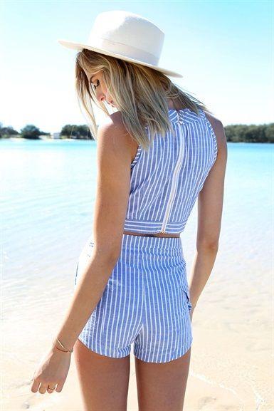 Compass Stripe Shorts | SABO SKIRT