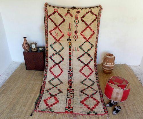 Moroccan-vintage-rug-Azilal-vintage-rug-berber-rug-100-wool-teppich-tribal