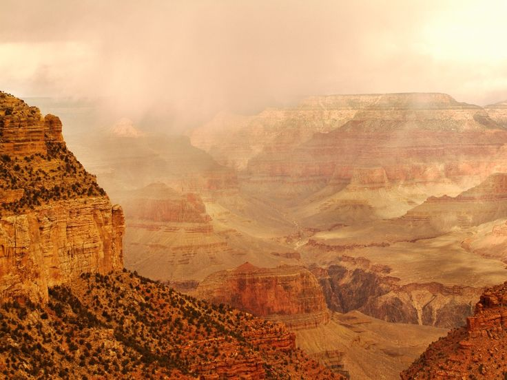 Grand Canyon National Park | fog filled morning grand canyon national park wallpaper nationale ...