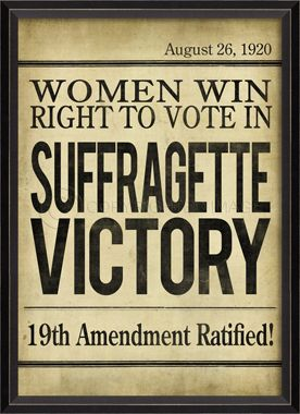 BC Suffragette Victory