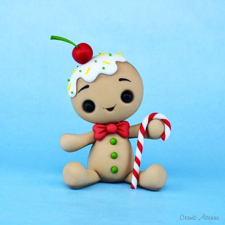 Kawaii Gingerbread Man fondant / polymer clay tutorial                                                                                                                                                                                 More