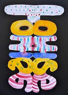 Splodge Podge Art  Pupil name cutouts