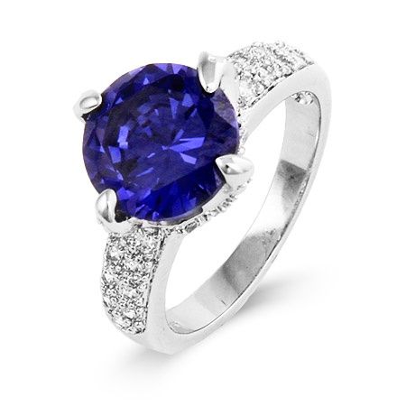 Sterling Silver #Tanzanite CZ Ring $65  #jewelry #rings #ring #pretty