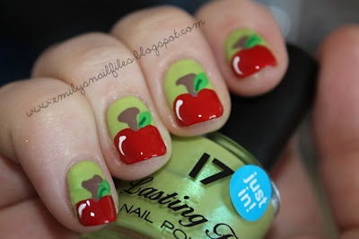 boots 17 juicy with fruity appley nail artEmily'S Nails, Apples Design, Fruity Nails, Apples To Apples, Wedding Nails, Appley Nails, Nails 15, Apples Nails, Backtoschool Nails