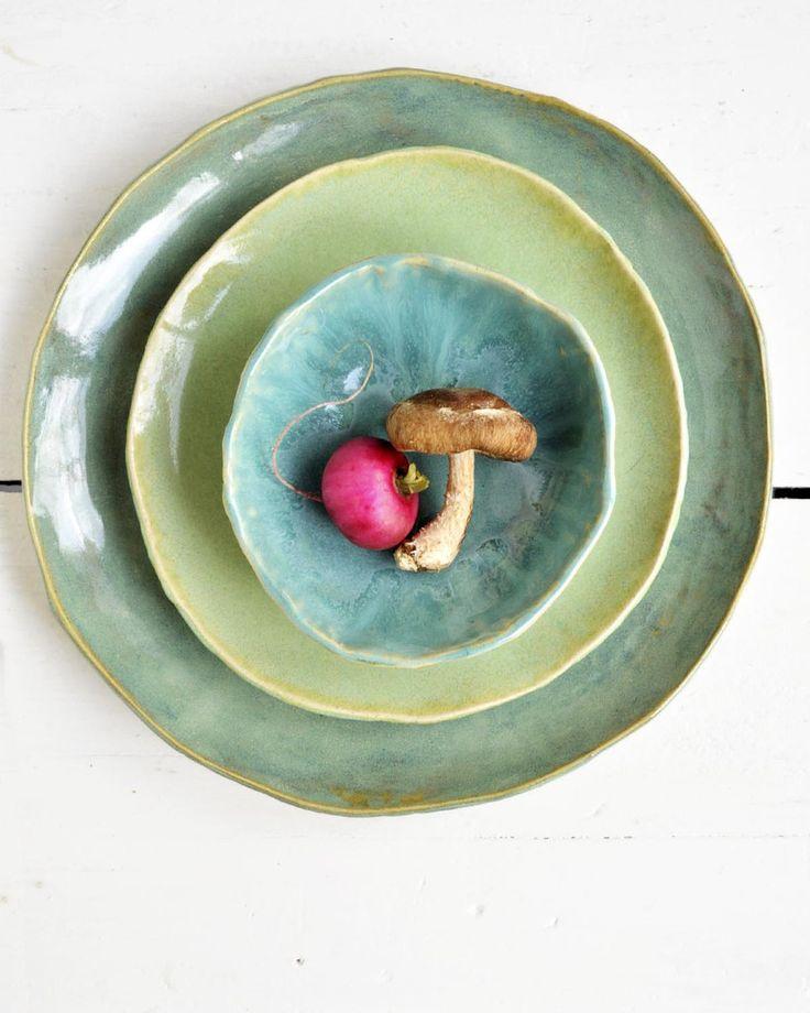 Lee Wolfe Pottery — Organic Soul 3 pc dinnerware set