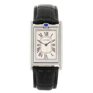 CARTIER - a Tank Basculante wrist watch.  Estimate GBP: £740 - £940