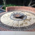 Fire pit area paved