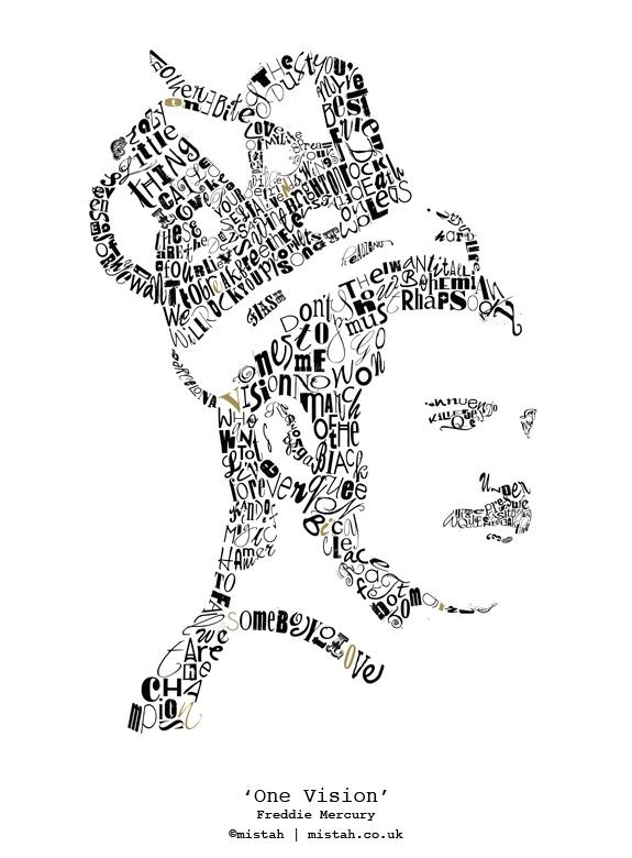 'One Vision'  Freddie Mercury  Limited-edition fine art print  www.mistah.co.uk