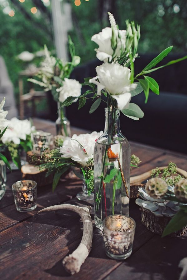 texas chic centerpiece // photo by The Nichols // View more: http://ruffledblog.com/surprise-texas-wedding/