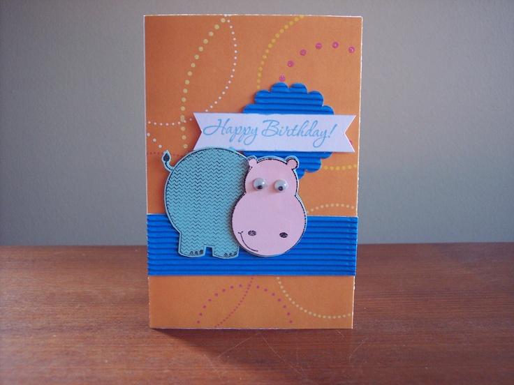 Cute little hippo (kaisercraft stamp)