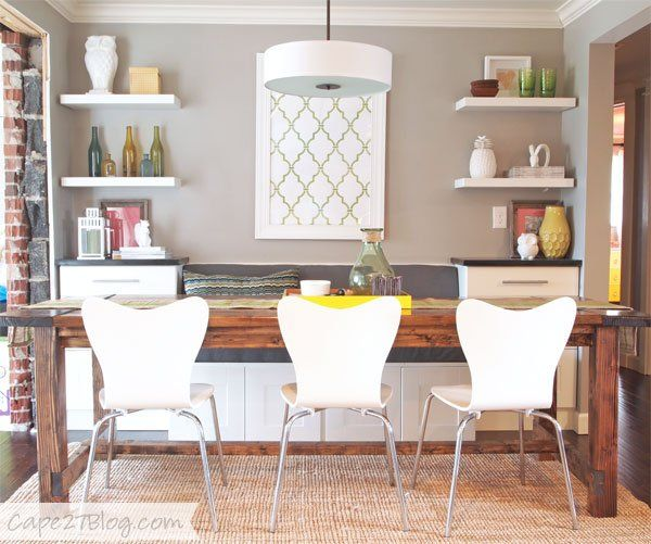 Pin for Later: Build Your Own Banquette — With Ikea Cabinets!