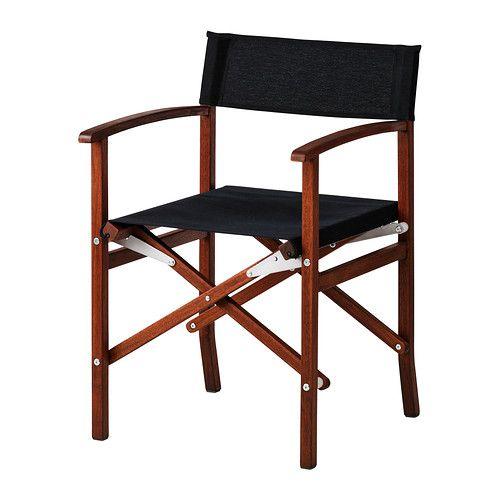 IKEA - SIARÖ, Regissörstol, Stolen kan fällas ihop så den är enkel att förvara när den inte används.Enkel att hålla ren eftersom tyget går att ta av och tvätta.