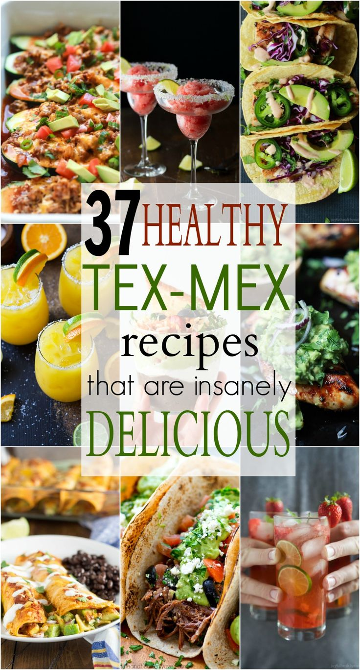 """37 Easy Healthy Tex-Mex Recipes that will ensure you have the best """"fiesta"""" on the block! These recipes will blow your mind AND your taste buds. Bring on the Mexican Food! Ole! 