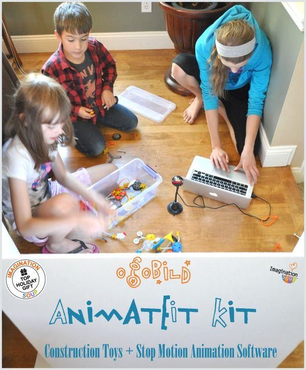 OGOBild's Animate It! Stop Motion Animation Software and Constructive Play Kit blends STEAM education and PBL, or project based learning, both totally necessary for our children to build a 21st century skill set.