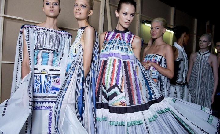 Backstage at Mary Katrantzou SS13 by Jamie Barker