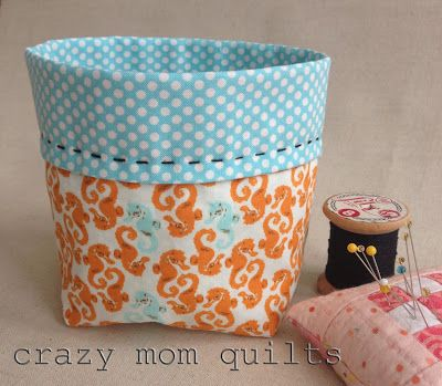 crazy mom quilts: thread catcher pattern
