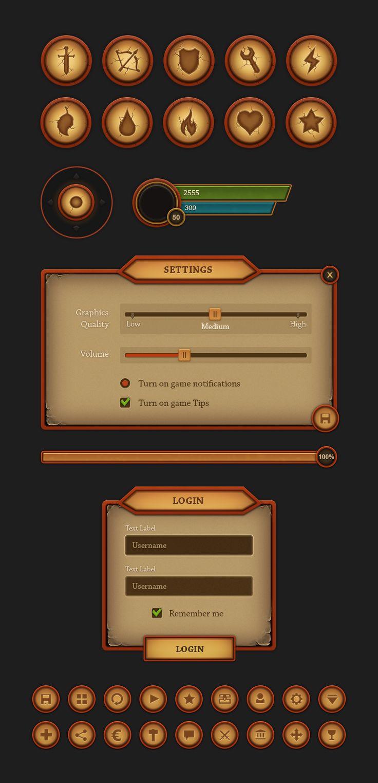 Fantasy Mobile UI - http://evilsystem.eu/assetstore/